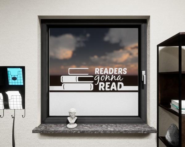 Glasdekor für Fenster, Bücher