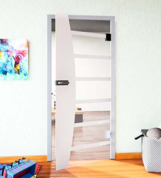 Glasdekor für Türen, Bücherregal