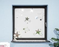 Glasdekor für Fenster, Sterne