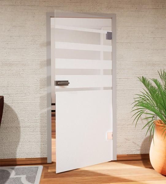 Glasdekor für Türen, Sichtschutz mit Streifenverlauf