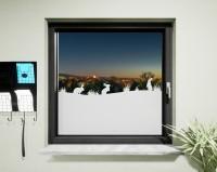 Glasdekor für Fenster, Hasen