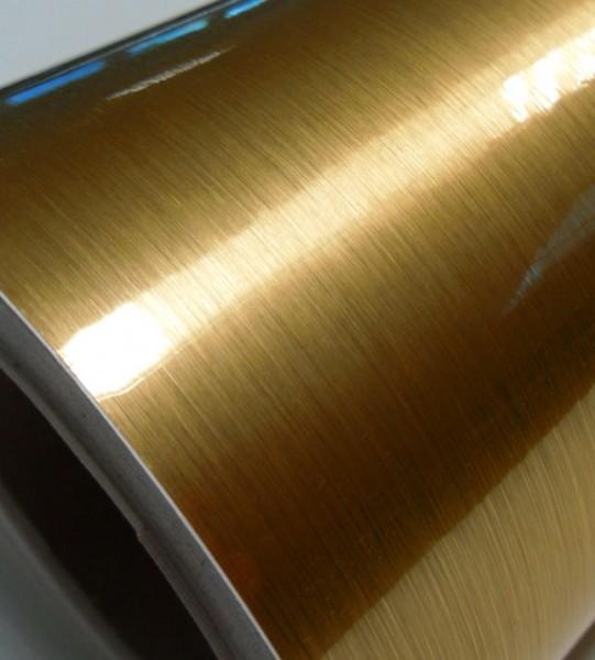 Klebefolie matt gebürstetes Gold